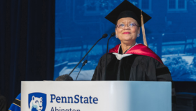 "."" Lorina Marshall-Blake serves as the keynote speaker for the Penn State Abington Commencement"