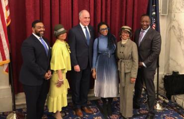 Omar Woodward , Lorina Marshall-Blake, Senator Bob Casey, Rakia Reynolds, Joan Myers Brown, and Sulaiman Rahman.