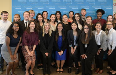 A group photo of the 2019 nursing interns