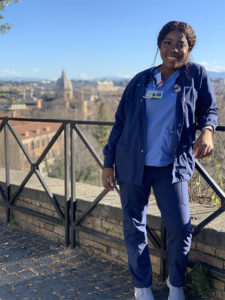 Adanna during her pediatric rotation in Vatican City, Italy