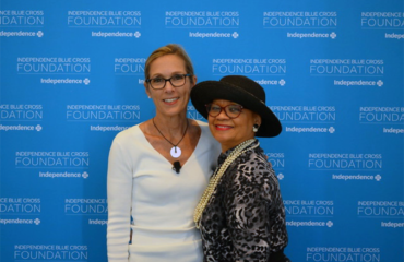 Foundation president Lorina Marshall-Blake (right) with filmmaker Carolyn Jones